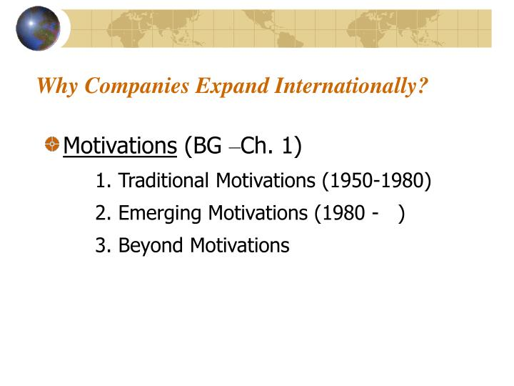 Why Companies Expand Internationally?