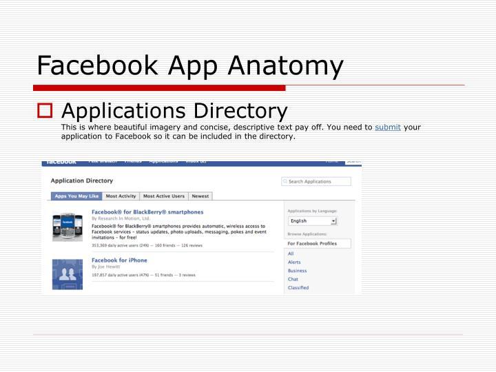 Facebook App Anatomy