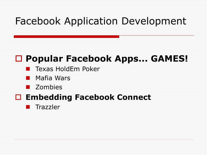 Facebook application development1