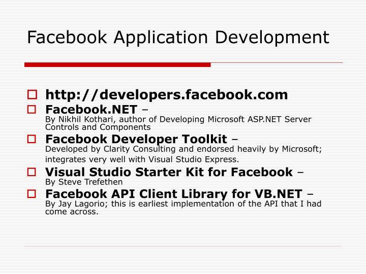Facebook Application Development