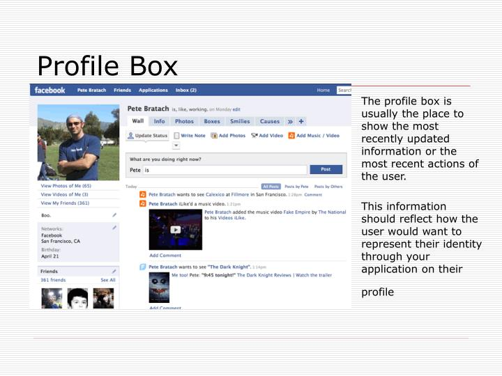 Profile Box