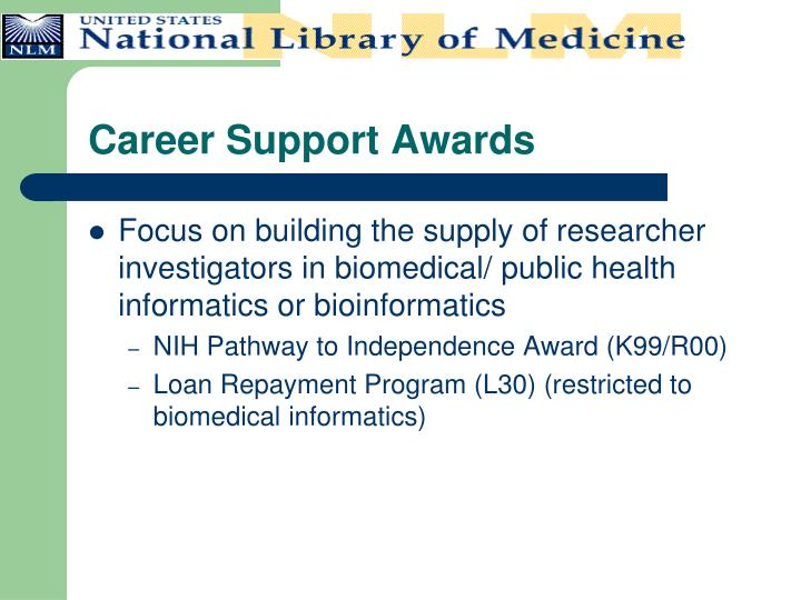 Career Support Awards