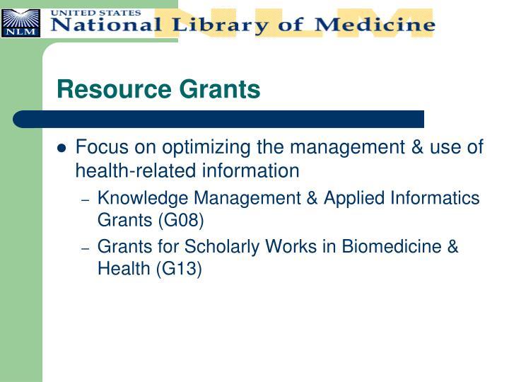 Resource Grants