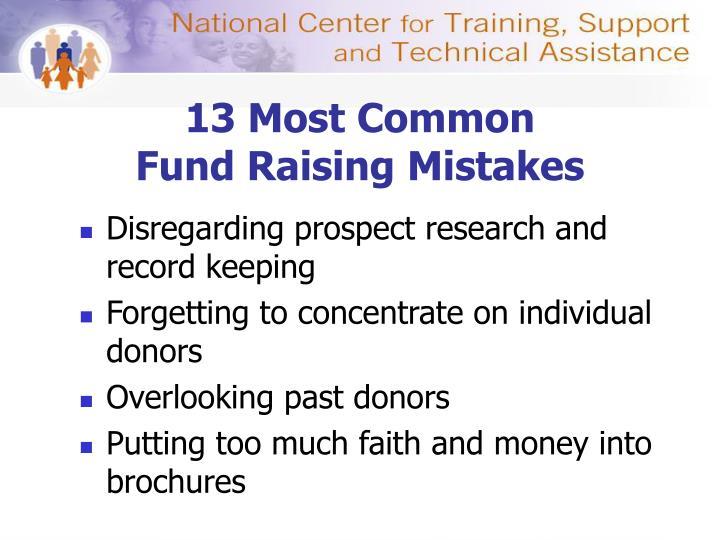 13 Most Common