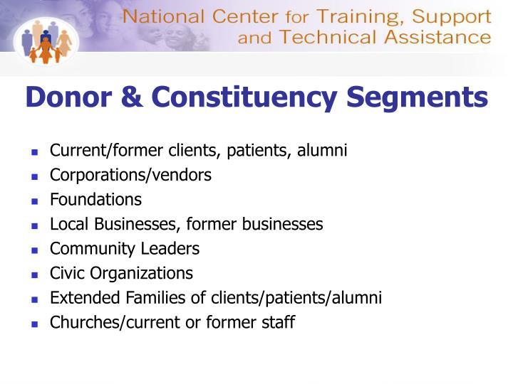 Donor & Constituency Segments