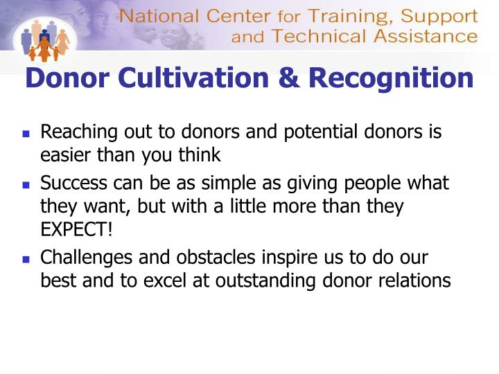 Donor Cultivation & Recognition