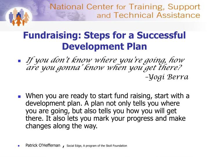 Fundraising: Steps for a Successful Development Plan