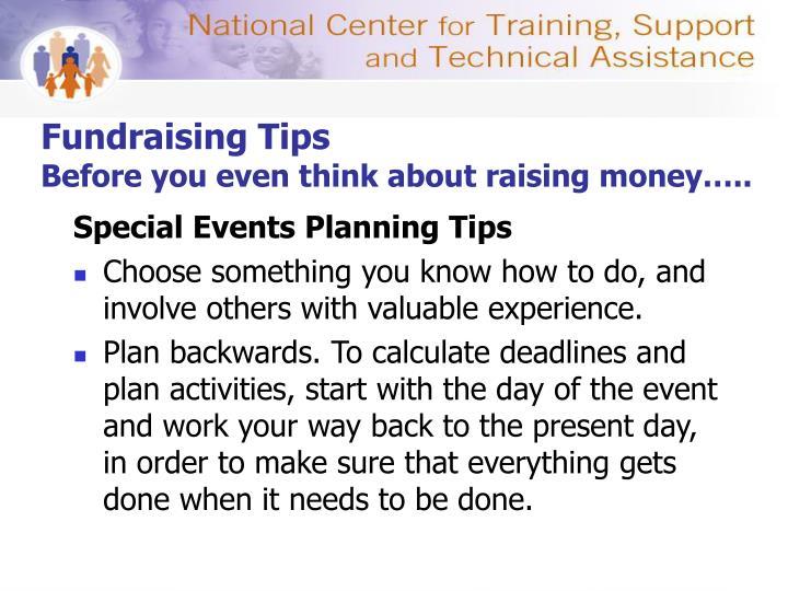 Fundraising Tips