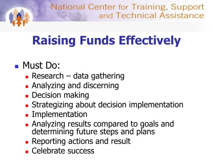 Raising Funds Effectively