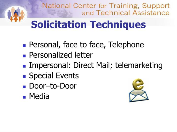 Solicitation Techniques