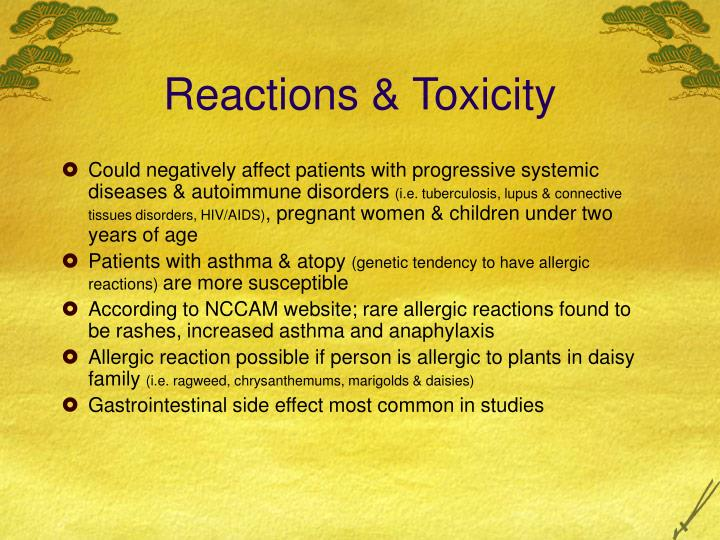 Reactions & Toxicity