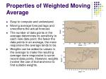 properties of weighted moving average