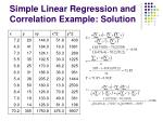 simple linear regression and correlation example solution