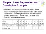 simple linear regression and correlation example
