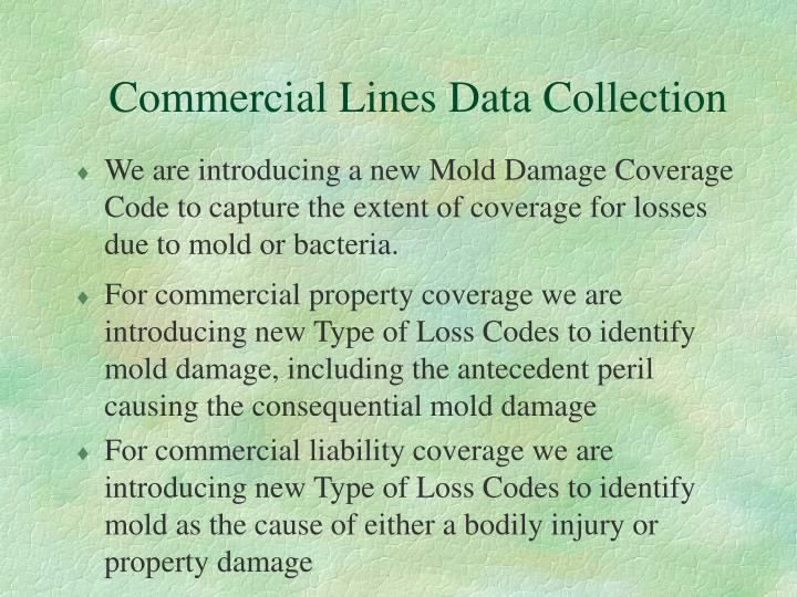 Commercial Lines Data Collection