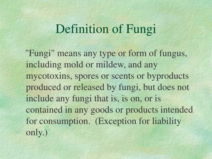 Definition of Fungi