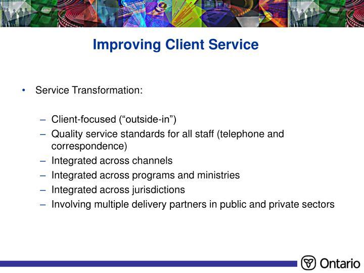 Improving Client Service