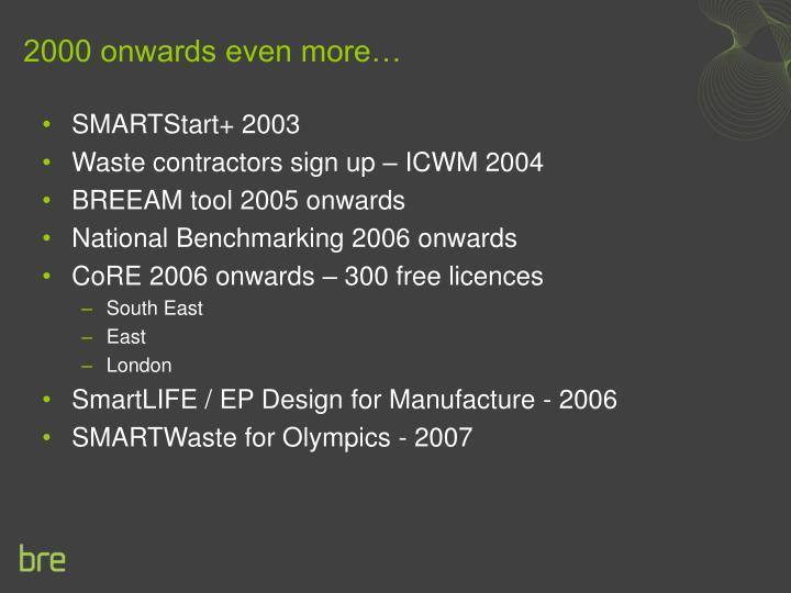 2000 onwards even more…