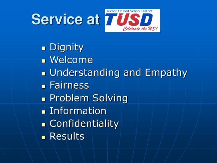 Service at