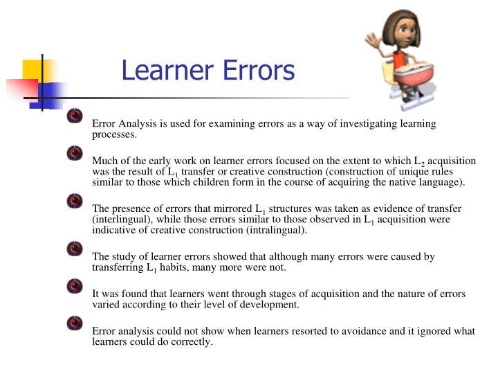Learner Errors