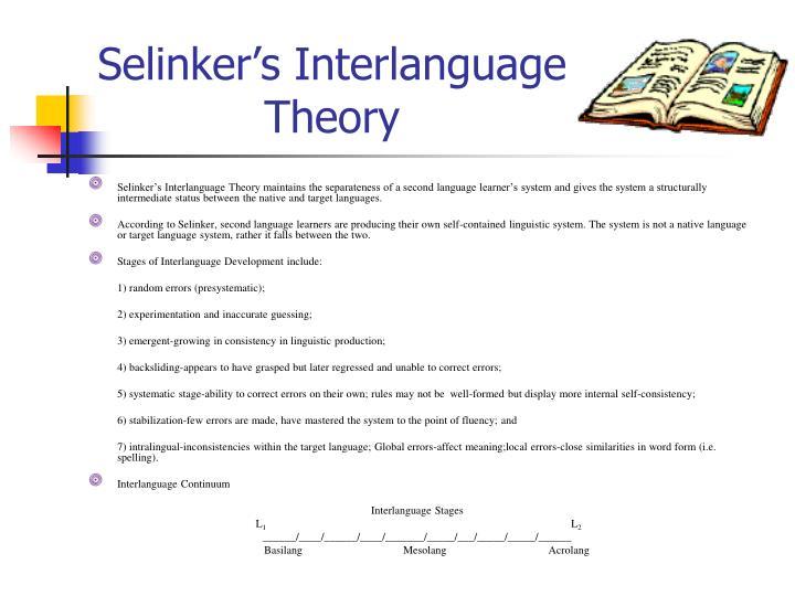 Selinker's Interlanguage
