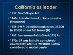 california as leader