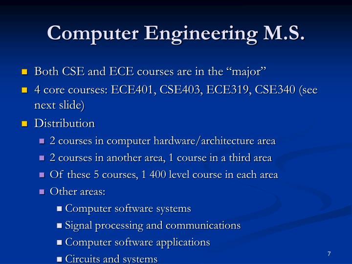 Computer Engineering M.S.