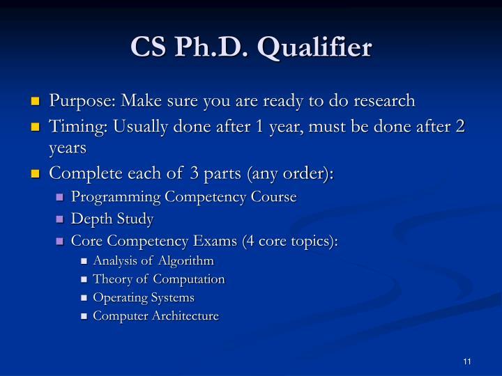 CS Ph.D. Qualifier