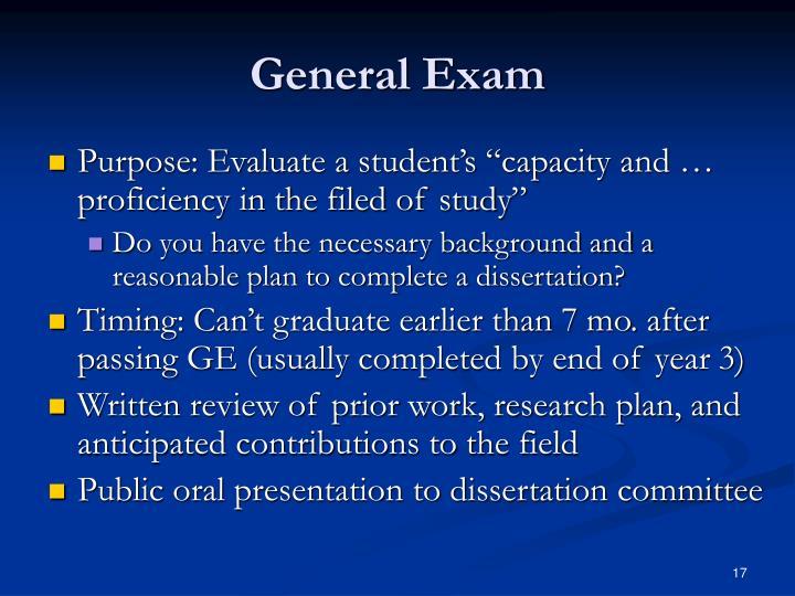 General Exam