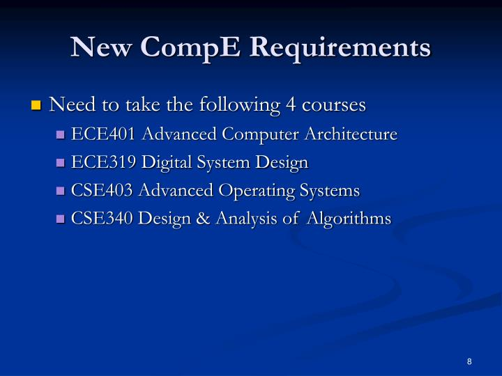 New CompE Requirements