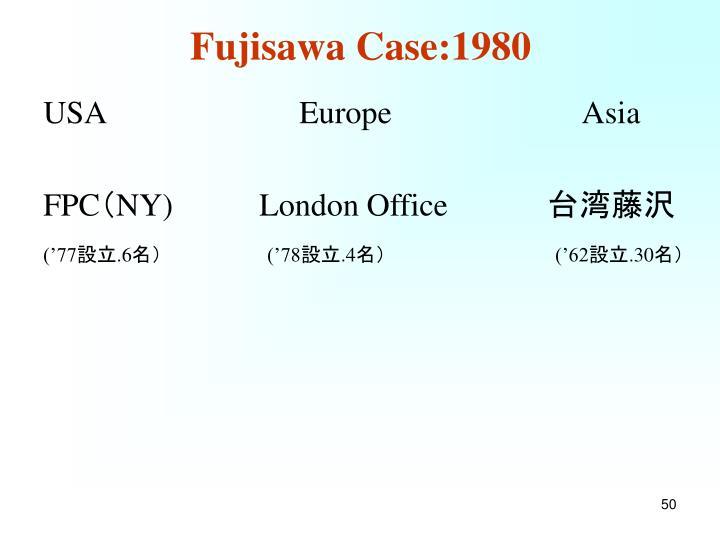 Fujisawa Case:1980