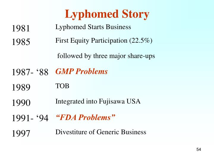 Lyphomed Story
