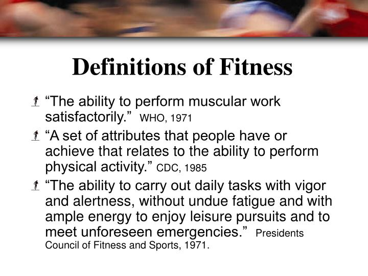 Definitions of Fitness