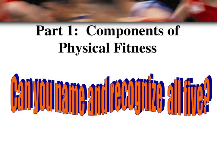 Part 1:  Components of Physical Fitness
