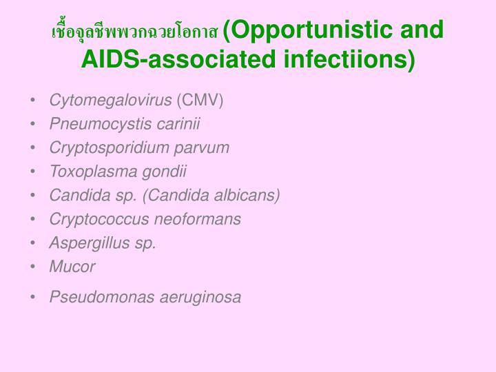 เชื้อจุลชีพพวกฉวยโอกาส (Opportunistic and AIDS-associated infectiions)