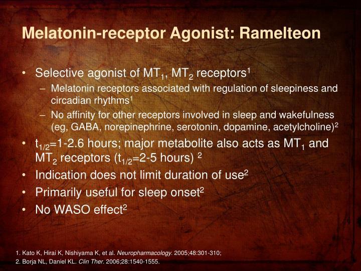 Melatonin-receptor Agonist: Ramelteon