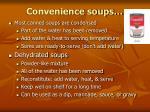 convenience soups