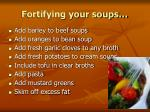 fortifying your soups