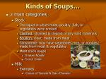 kinds of soups