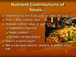 nutrient contributions of soups