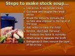 steps to make stock soup