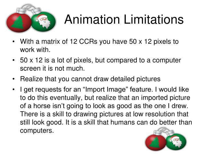 Animation Limitations