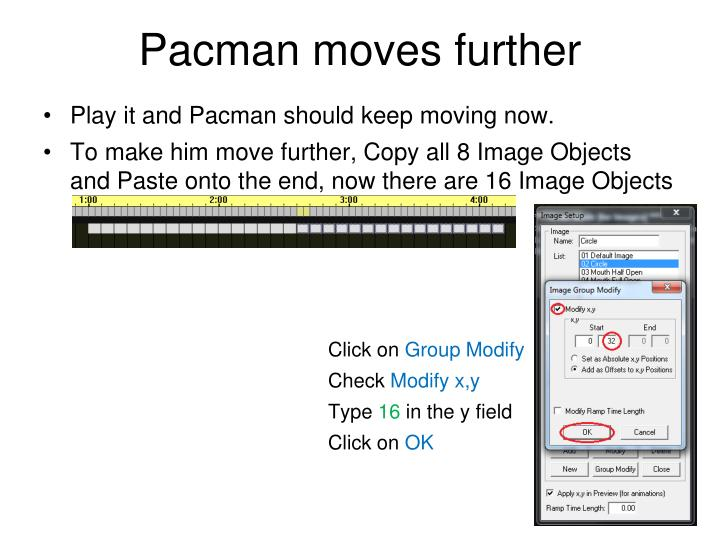 Pacman moves further