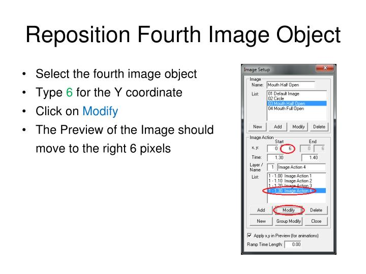 Reposition Fourth Image Object