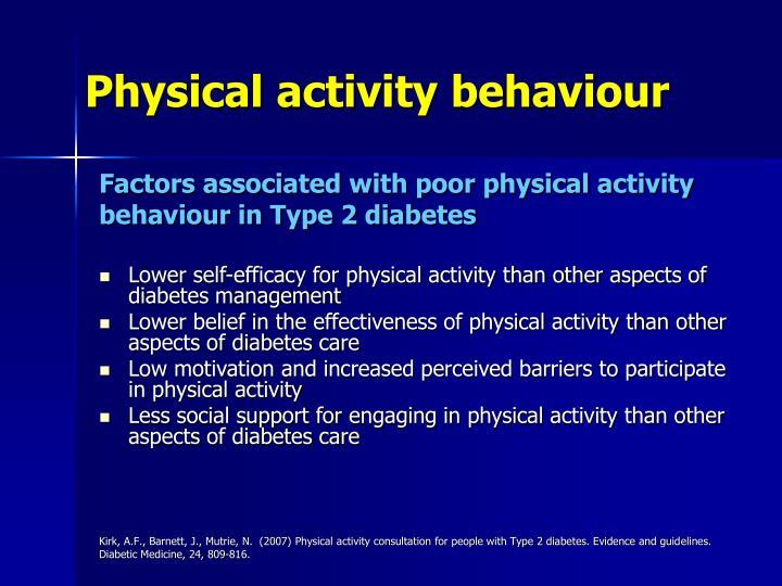 Physical activity behaviour