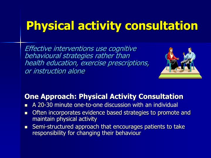 Physical activity consultation