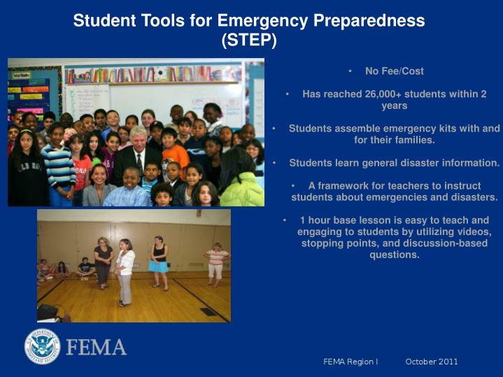 Student Tools for Emergency Preparedness