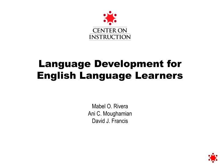 language development for english language learners n.