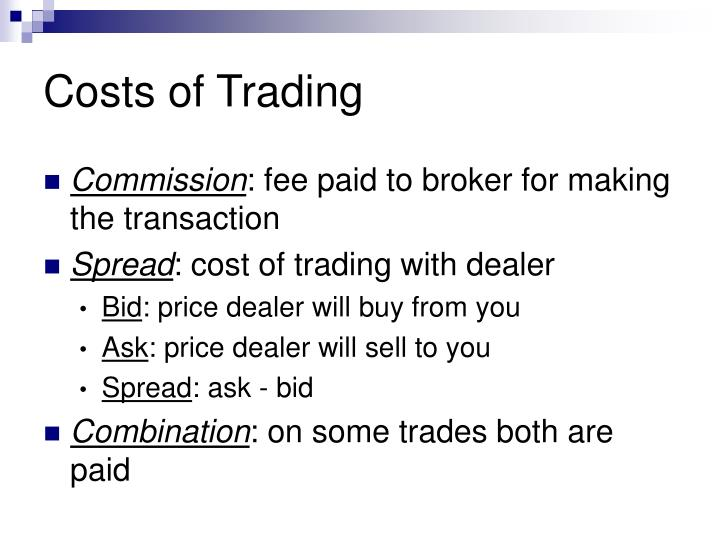 Costs of Trading