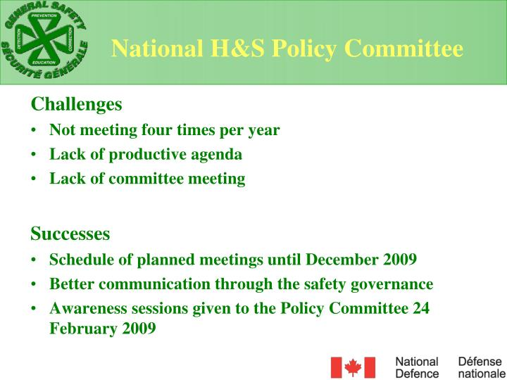 National H&S Policy Committee